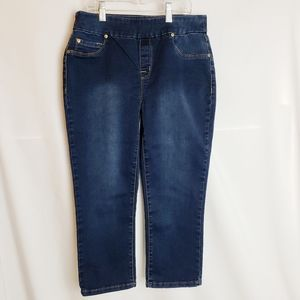 Tribal Jeans pull on stretch denim capri pants